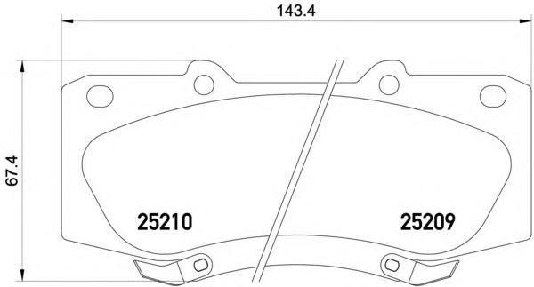 Колодки тормозные передние Textar 25209012520901
