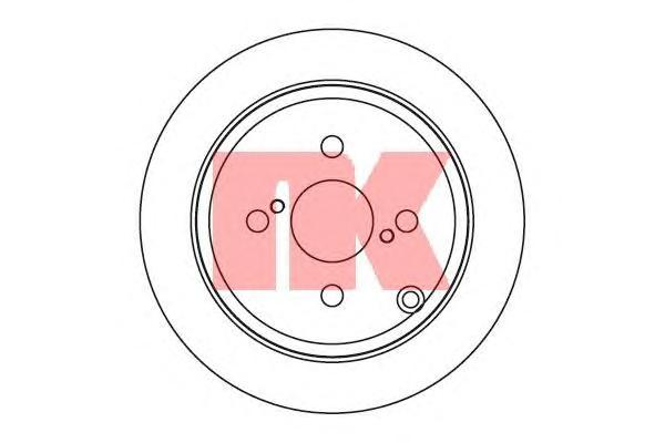 Диск тормозной NK 204584 комплект 2 шт204584