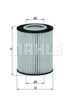 Фильтр масляный Mahle/Knecht OX433DOX433D