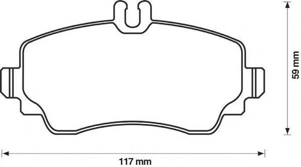 Колодки тормозные передние Jurid 571945J571945J