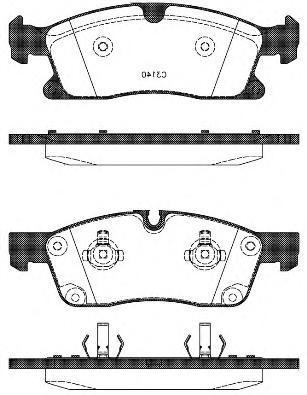 Колодки тормозные передние Remsa 143010143010