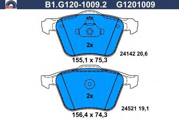Колодки тормозные Galfer B1G12010092B1G12010092