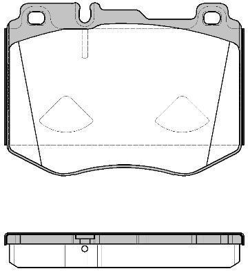 Колодки тормозные дисковые передние Remsa 160400160400
