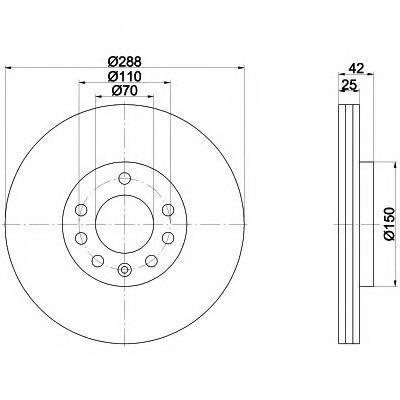 Диск тормозной передний вентилируемый Textar 92075603 комплект 2 шт92075603