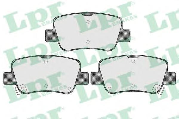 Колодки тормозные задние LPR / AP 05P152205P1522