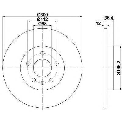 Диск тормозной задний Textar 9216010392160103