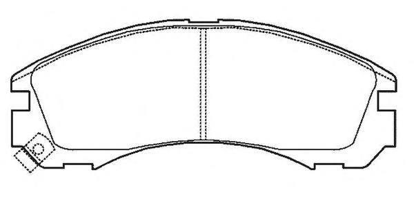 Колодки тормозные дисковые 4 шт, передние Jurid 572447J572447J