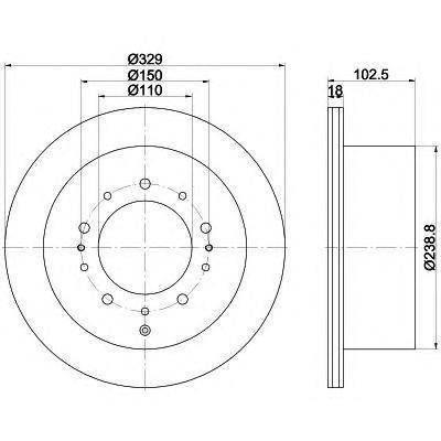 Диск тормозной задний вентилируемый Textar 92172803 комплект 2 шт92172803