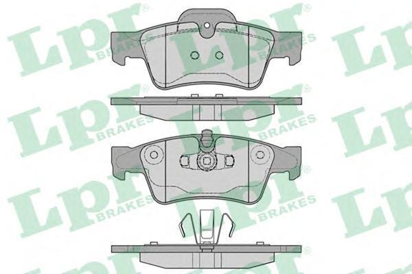 Колодки тормозные дисковые задние LPR / AP 05P125405P1254
