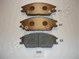 Колодки тормозные дисковые Japanparts PA339AFPA339AF