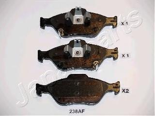 Колодки тормозные дисковые Japanparts PA238AFPA238AF