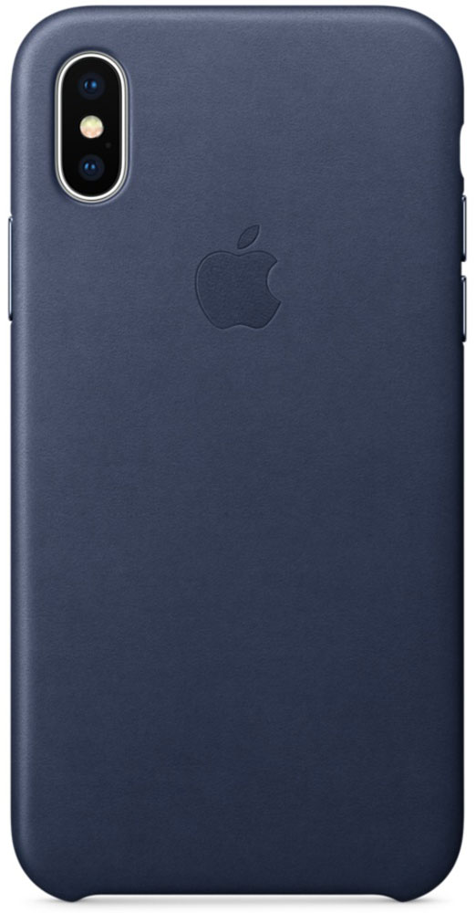 Apple Leather Case чехол для iPhone X, Midnight BlueMQTC2ZM/AЧехлы от Apple точно повторяют контуры iPhone, не делая его громоздким. Они изготовлены из специально обработанной кожи европейского производства, которая со временем покрывается благородной патиной. Внутренняя поверхность чехла, выполненная из микрофибры, защищает корпус вашего iPhone. А цвет кнопок из обработанного алюминия идеально к нему подходит. Чехол не придётся снимать даже во время беспроводной зарядки.