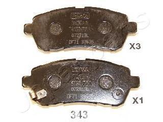 Колодки тормозные дисковые Japanparts PA343AFPA343AF