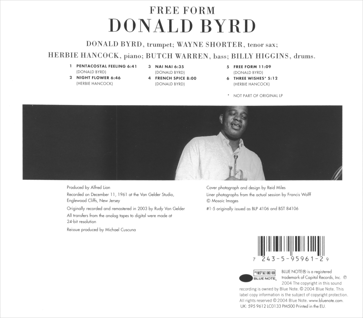 Donald Byrd.  Free Form Blue Note Records