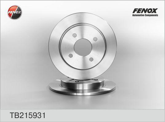 Диск тормозной Fenox TB215931 комплект 2 штTB215931
