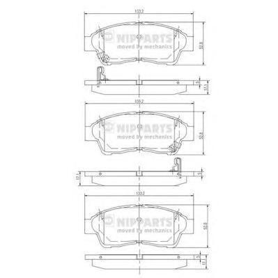 Колодки тормозные передние Nipparts J3602064J3602064