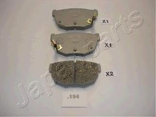 Колодки тормозные дисковые Japanparts PP194AFPP194AF