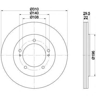Диск тормозной передний Textar 92170503 комплект 2 шт92170503