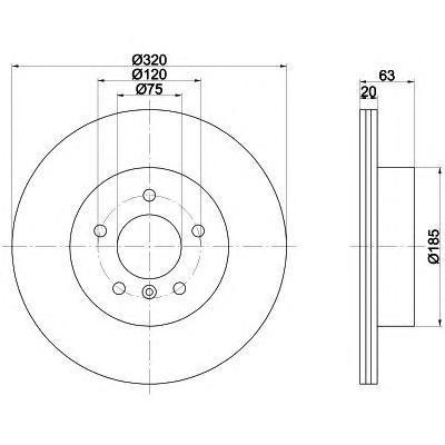 Диск тормозной задний вентилируемый Textar 92122703 комплект 2 шт92122703