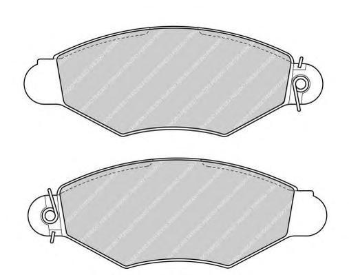 Колодки тормозные дисковые Premier Ferodo FDB1135FDB1135