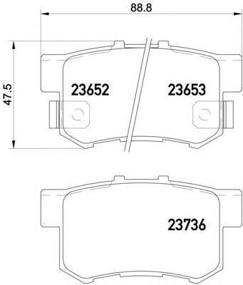 Колодки тормозные дисковые, 4 шт Textar 23652012365201