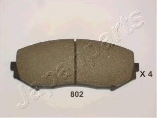 Колодки тормозные дисковые Japanparts PA802AFPA802AF
