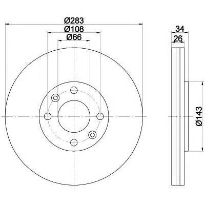 Диск тормозной передний Textar 9211160392111603