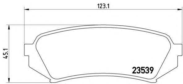 Колодки тормозные задние Brembo P83049P83049