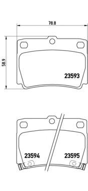 Колодки тормозные задние Brembo P54026P54026