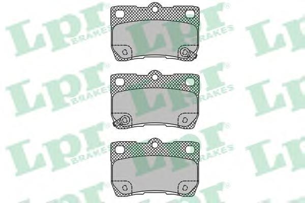 Колодки тормозные задние LPR / AP 05P140705P1407