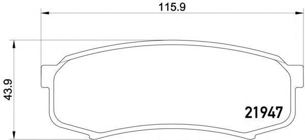 Колодки тормозные дисковые, комплект BEHR-HELLA 8DB3550168318DB355016831
