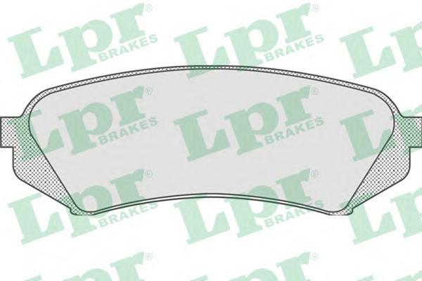 Колодки тормозные задние дисковые LPR / AP 05P83505P835