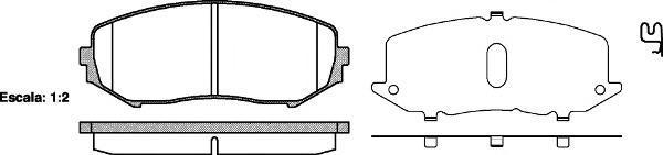 Колодки тормозные дисковые Remsa, комплект. 122502122502