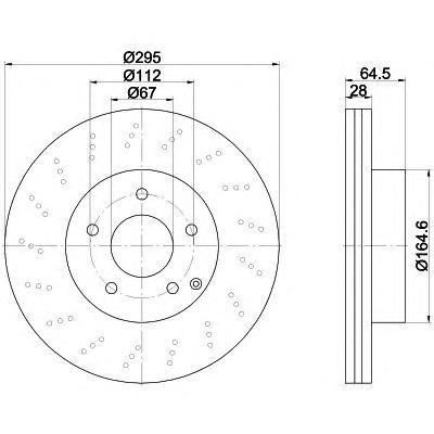 Диск тормозной передний вентилируемый Textar 92165003 комплект 2 шт92165003
