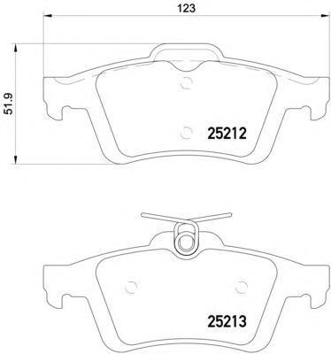 Колодки тормозные задние Textar 25212012521201