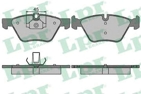 Колодки тормозные передние LPR / AP 05P151205P1512