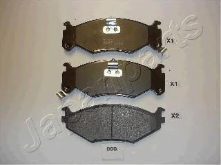Колодки тормозные дисковые Japanparts PA060AFPA060AF