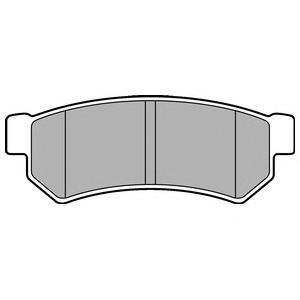 Колодки тормозные задние DELPHI LP2502LP2502