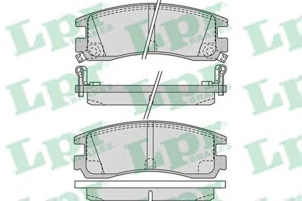 Колодки тормозные LPR / AP 05P103105P1031
