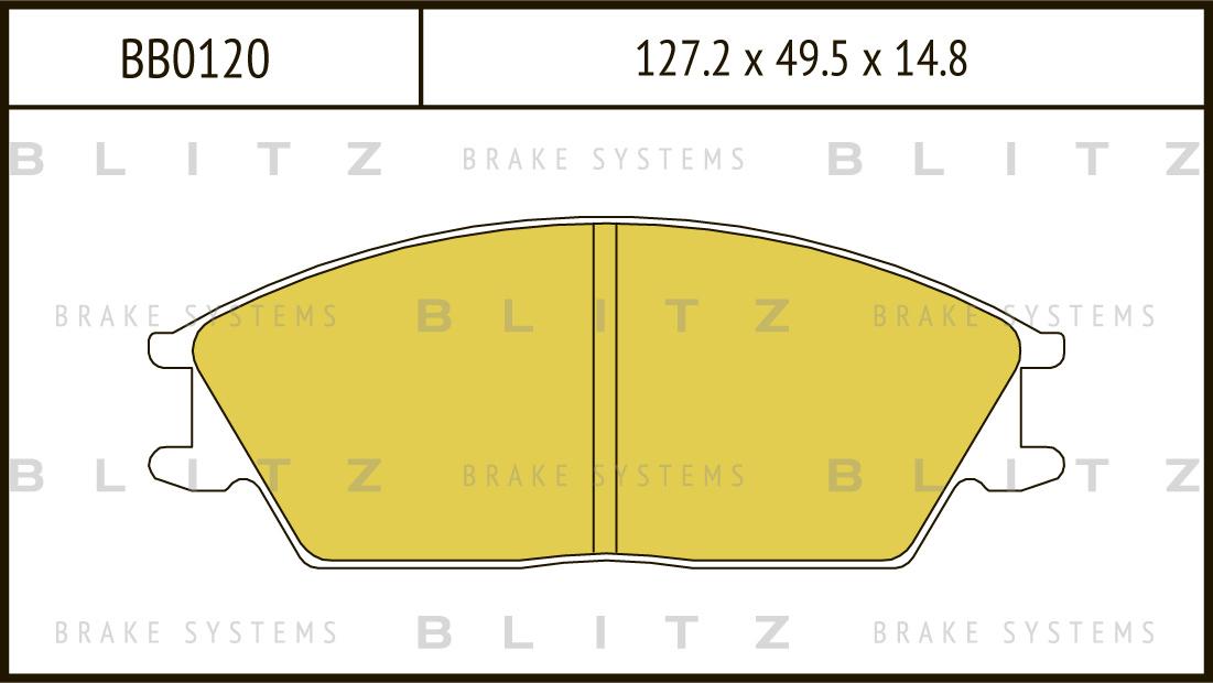 Колодки тормозные дисковые BLITZ автотовары BB0120BB0120