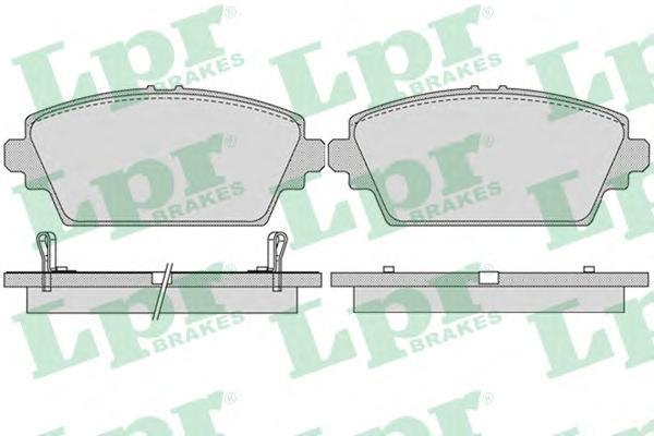 Колодки тормозные передние LPR / AP 05P103605P1036