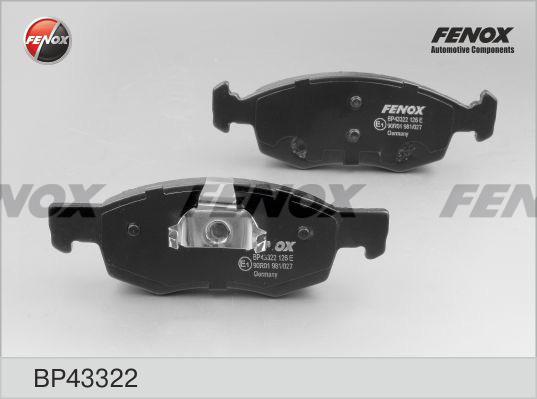 Колодки тормозные дисковые Fenox BP43322BP43322