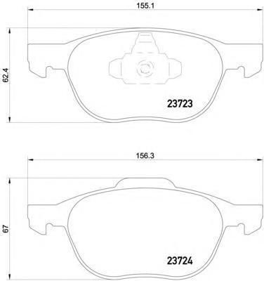 Колодки тормозные дисковые, комплект BEHR-HELLA 8DB3550111918DB355011191
