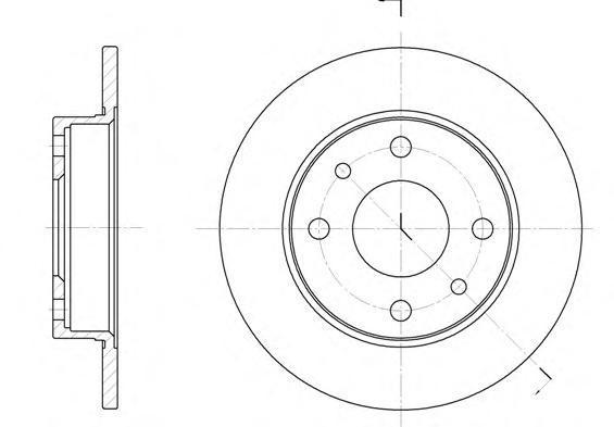 Диск тормозной Remsa 611000 комплект 2 шт611000