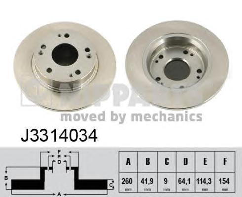 Диск тормозной Nipparts J3314034 комплект 2 штJ3314034