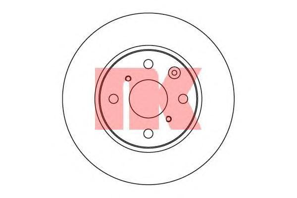 Диск тормозной NK 2045102 комплект 2 шт2045102