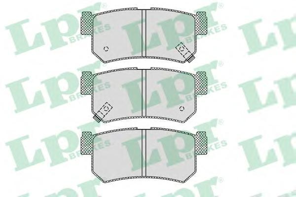 LPR / AP Колодки тормозные задние с дат. SSANGYONG Musso 96 Rexton 02. 05P121005P1210