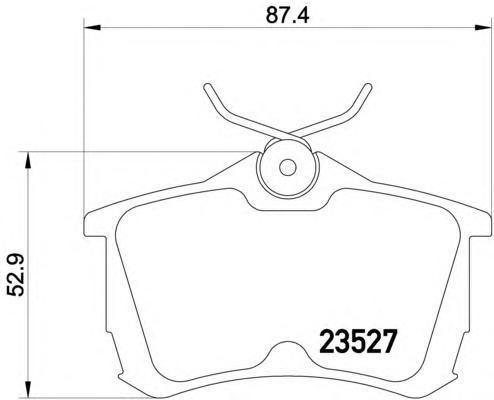 Колодки тормозные дисковые, 4 шт Textar 23527012352701