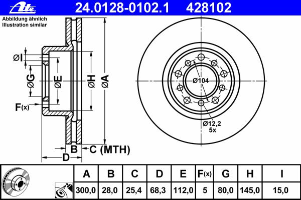 Диск тормозной Ate 24012801021 комплект 2 шт24012801021