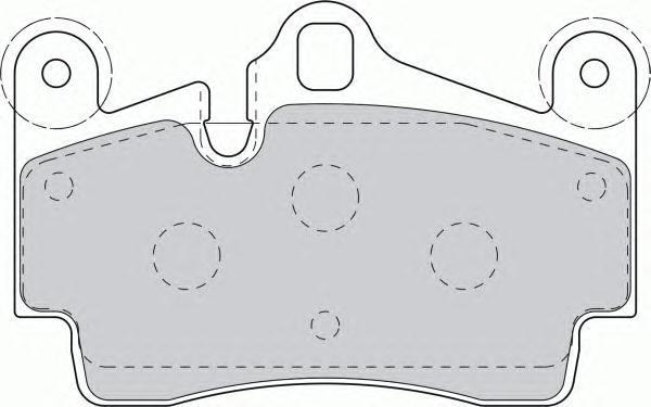 Колодки тормозные дисковые, 4 шт Textar 23694022369402